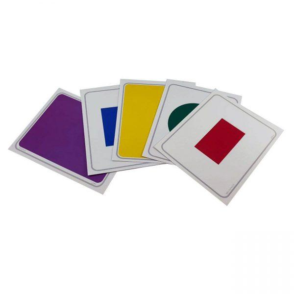کارت دید آموز شکل، رنگ و اندازه