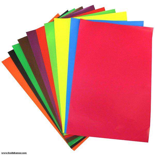 کاغذ رنگی بسته ای 10عددی
