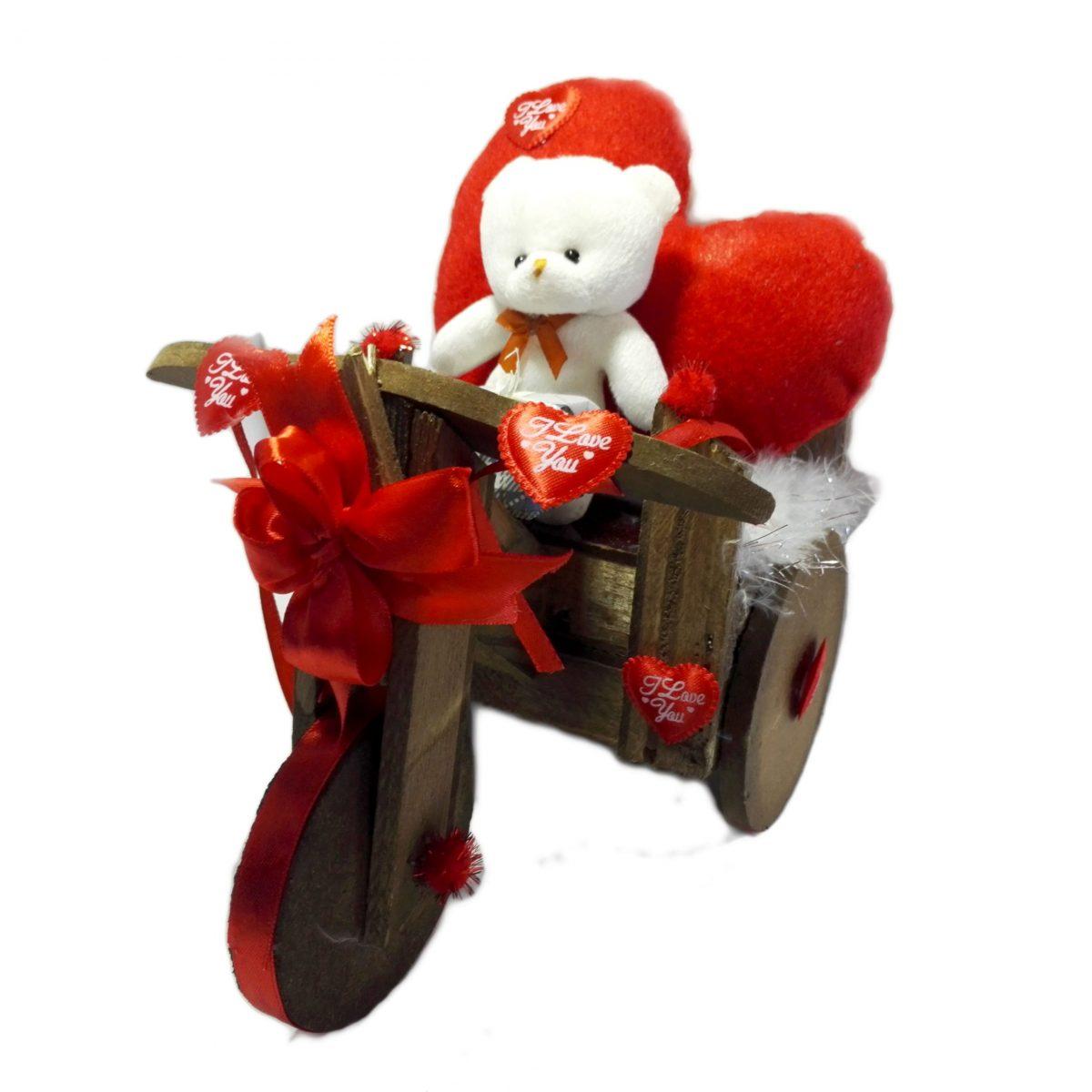 هدیه ولنتاین سه چرخه باخرس عاشق ( خرس وقلب پولیشی )