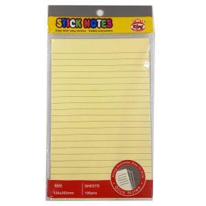 یادداشت چسبی ۲۰۲*۱۲۶ خط دار ۹۰۸۷ کینگ