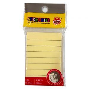 یادداشت چسبی ۷۶*۵۱ خط دار ۹۰۹۸ کینگ