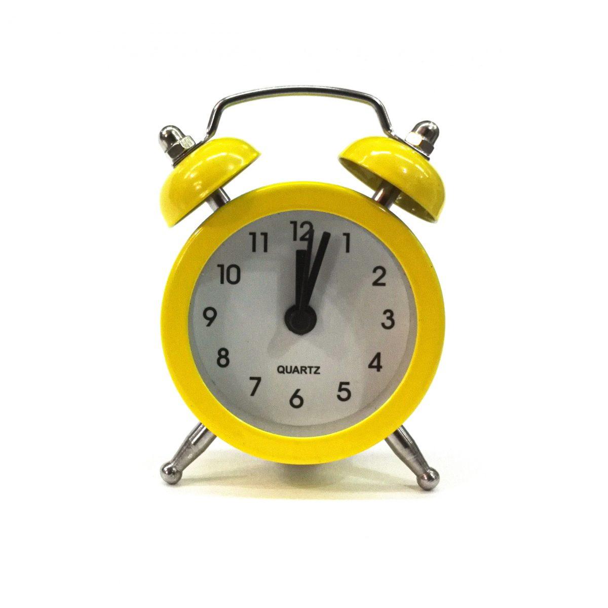 ساعت شماطه دار پایه استیل کوچک