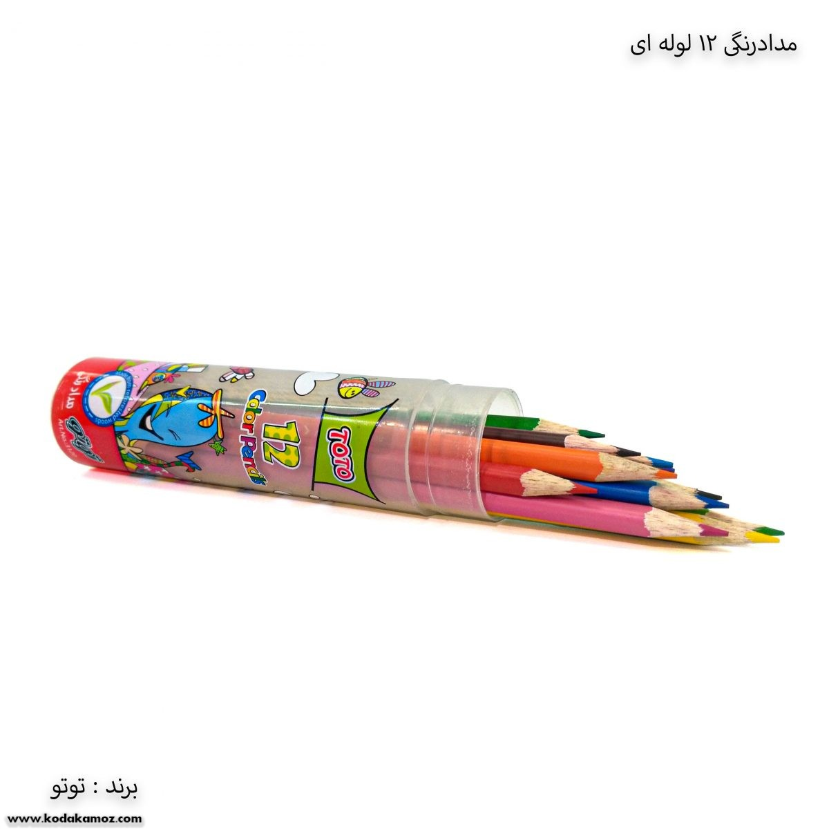 مداد رنگی 12 لوله ای توتو 1