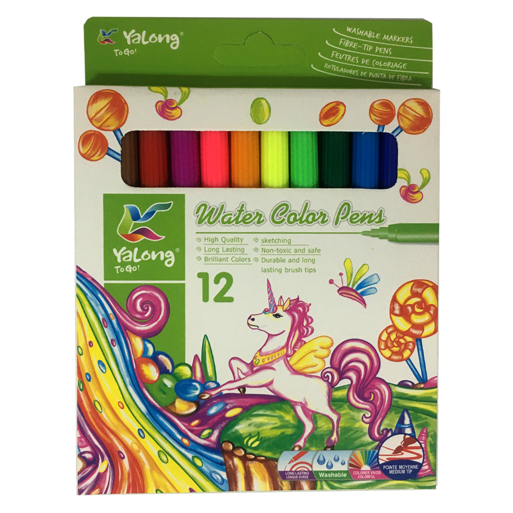 ماژیک 12 رنگ یالونگ