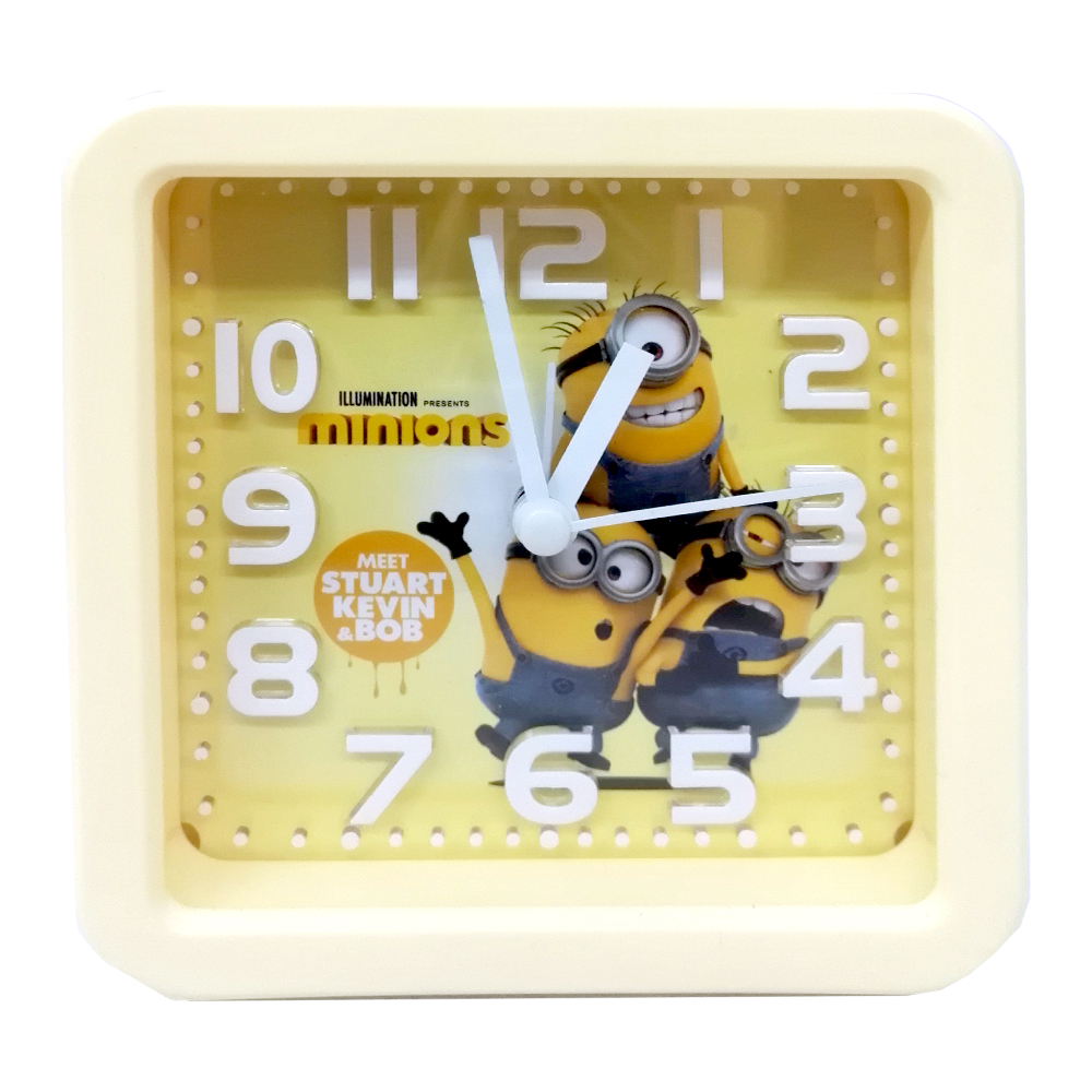 ساعت رومیزی طرح مینیون مکعبی