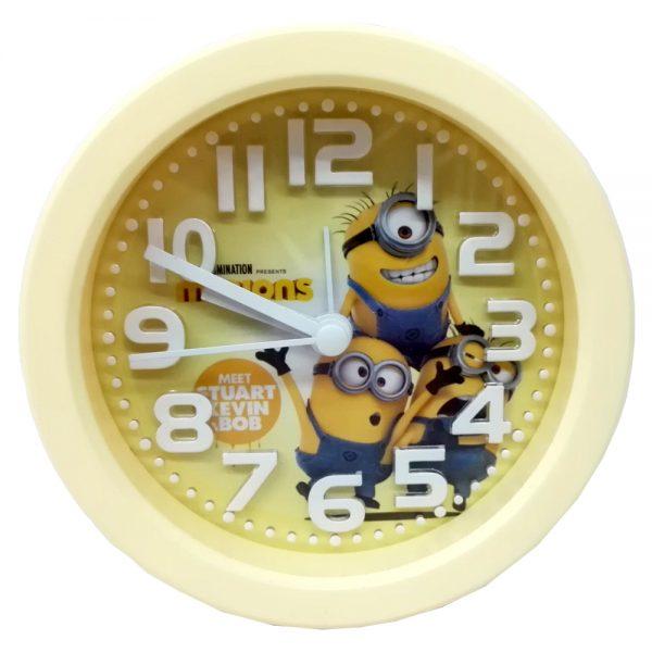 ساعت رومیزی طرح مینیون گرد
