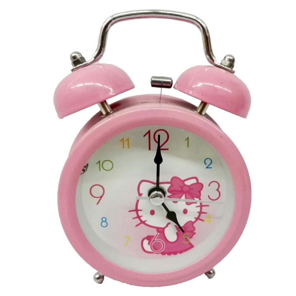 ساعت فلزی زنگ دار صورتی کیتی