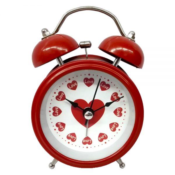 ساعت فلزی زنگ دار قلب