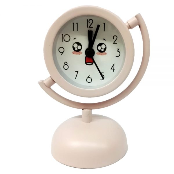 ساعت پایه دار فلزی سفید
