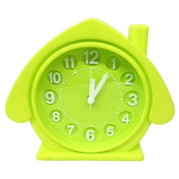 ساعت رومیزی طرح کلبه صورتی