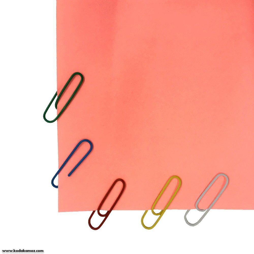 گیره کاغذ رنگی xin li