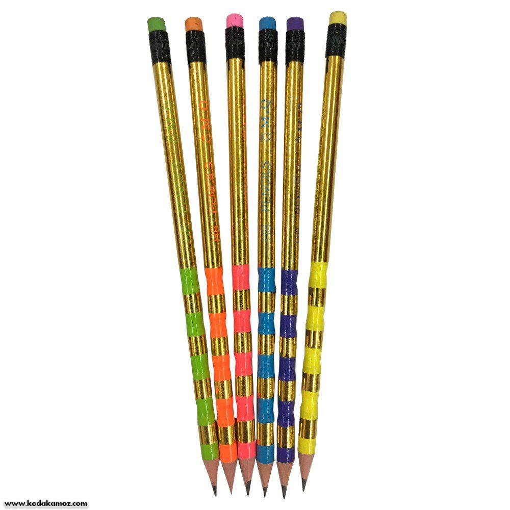 مداد مشکی بدنه طلایی mg