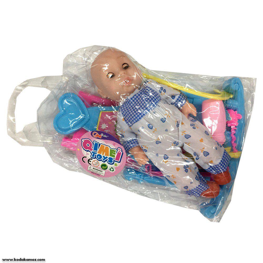 عروسک با گهواره