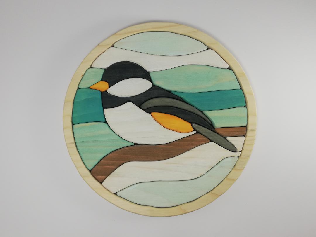 پازل چوبی سه بعدی پرنده
