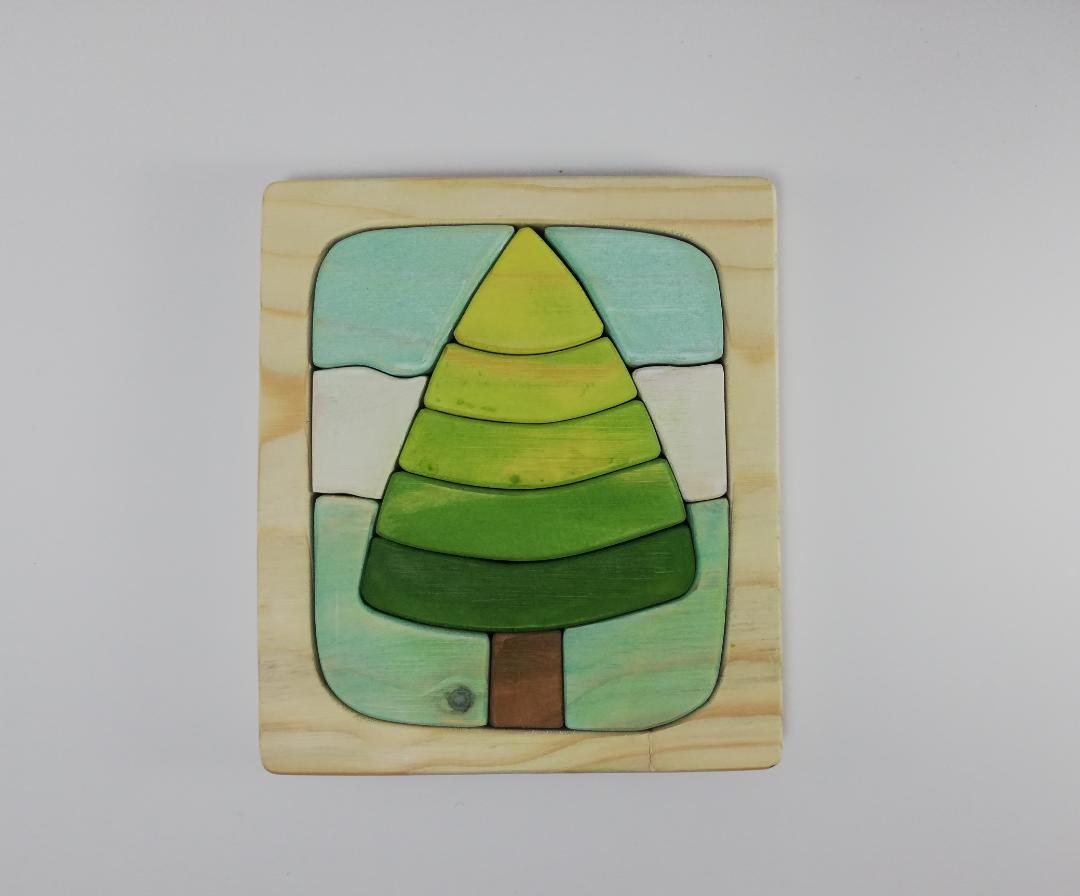 پازل چوبی طرح درخت