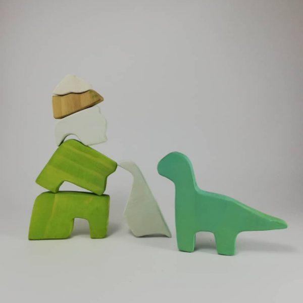 پازل چوبی سه بعدی طرح دایناسور
