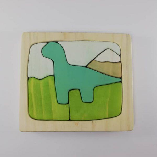 پازل چوبی طرح دایناسور