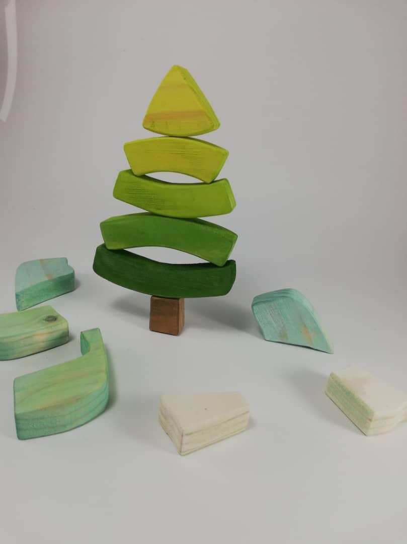پازل چوبی درخت