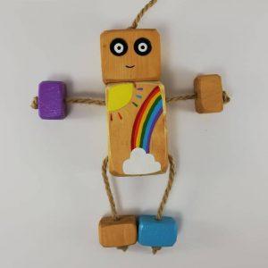 عروسک روودی رنگین کمانی R02